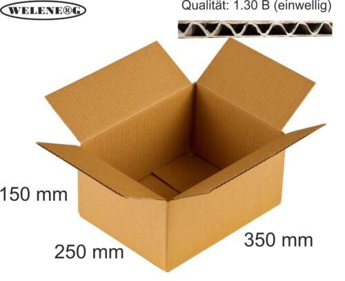 80 Faltkartons 350x250x150mm B-410g//m2  Versandkarton Falt Kartons braun