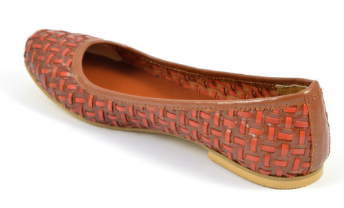 Womens Size Woven Leather Loafers Flats Pumps Ballerina Shoes Tan Ladies Brown PPxqwvCR