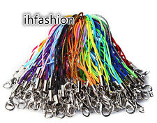Lot 100 pcs 21color Cell Phone Lanyard Cords Strap Lariat Mobile Lobster Clasp