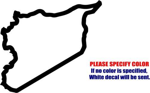 "SYRIA Country Map Decal Sticker JDM Funny Vinyl Car Window Bumper Truck Wall 9/"""