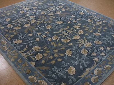 Authentic 2 5x9 3x5 5x8 8x10 9x12 Botanical Floral Blue Wool Area Rugs Bl08 Ebay