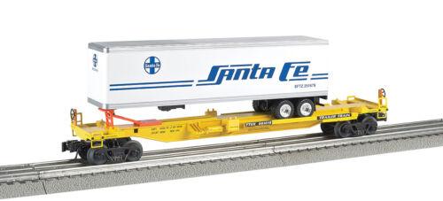 Williams 48404 O SCAL SANTA FE Front Runner Intermodal 3-Rail Car w//Trailer NEW