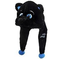 Carolina Panthers Team Logo - Mascot Dangle Hat - Soft Plush - Sir Purr