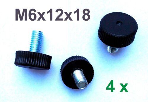4 x M6x12x18x7 Verstellfuß Möbelfuß Stellschraube Stellteller Stellfuß Neu