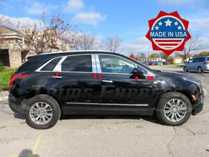 2017-2019-Cadillac-XT5-12Pc-Chrome-Pillar-Post-Stainless-Steel-Trim-Door-Cover