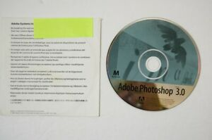 AS-IS-Adobe-Photoshop-3-0-Full-CD-ROM-w-serial-Macintosh-Vtg-Computer-Software