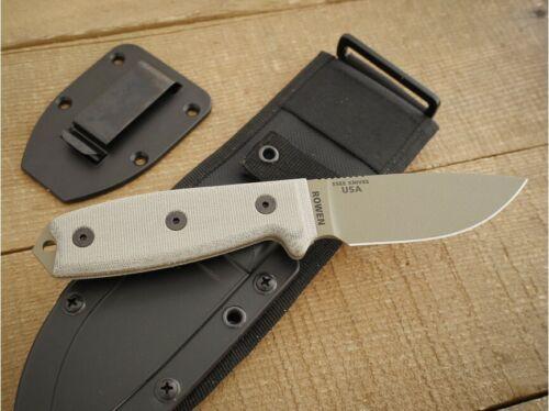 ES3PMBDE ESEE-3P-MB-DE Dark Earth 1095 Carbon Blade Micarta Handle Sheath USA