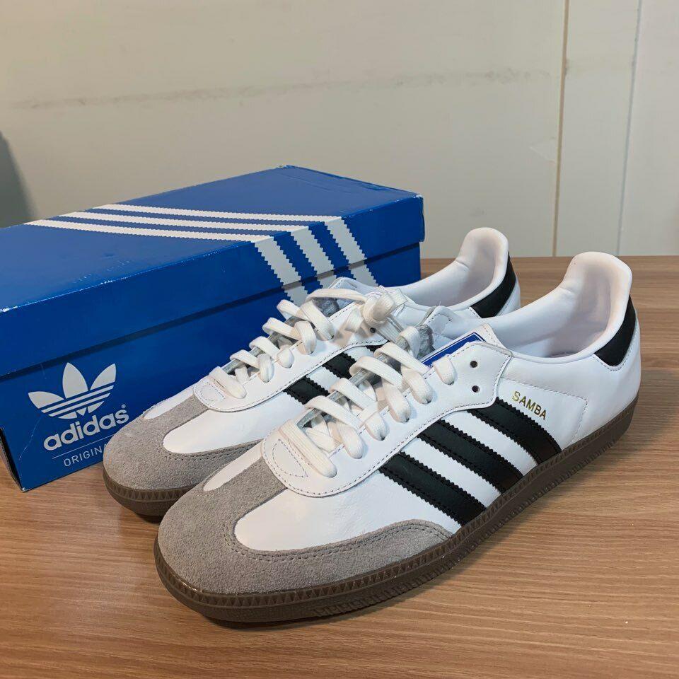 Adidas Originals Samba og en la nube B75806 blancoo Core Negro Hombre Zapatos Tenis
