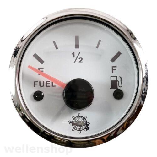 12 V Tankuhr Kraftstoffanzeige Treibstoffanzeige Tankgeber Edelstahl 30 240 Boot