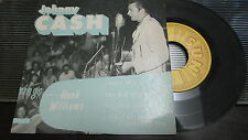 JOHNNY CASH SUN 45 RPM EP-111 SINGS HANK WILLIAMS WITH PICTURE COVER SLEEVE