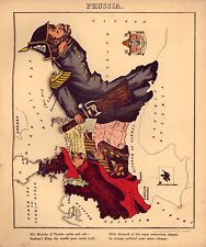 Prussia Vintage Antique Old Colour Repro Map from Geographical Fun Atlas of 1869