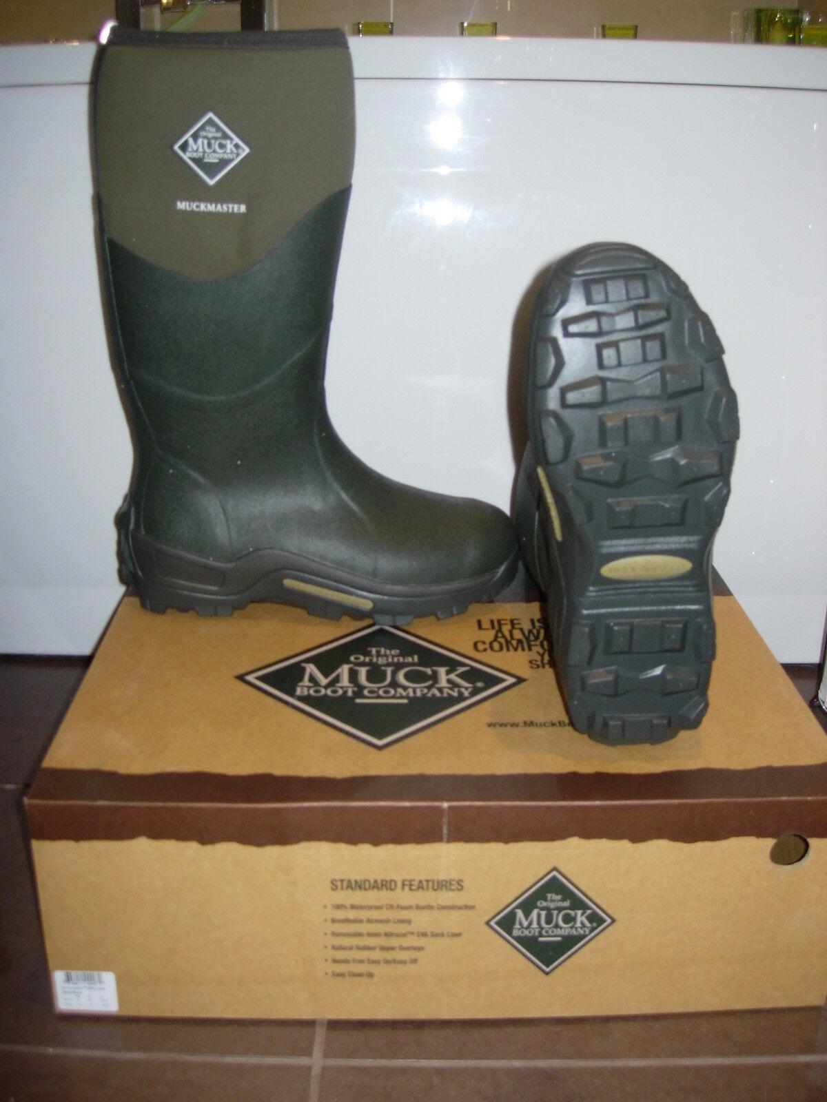 Muck Boot MUCKMASTER UNISEX gomma MUSCHIO VERDE stivali di gomma UNISEX varie dimensioni (Tay aggiornamento) 0eab00