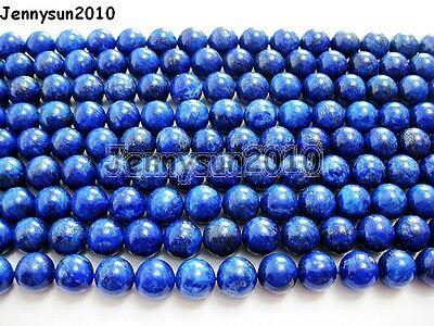Natural Lapis Lazuli Gemstone Round Beads 15.5'' 2mm 3mm 4mm 6mm 8mm 10mm 12mm