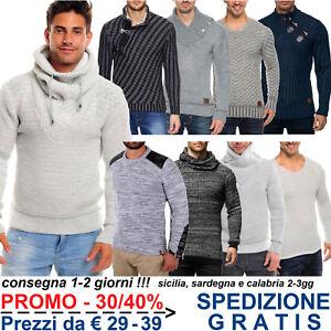Pullover-Maglione-da-Uomo-di-Lana-Invernale-Pesante-Giacca-in-Maglia-Grossa-Moda
