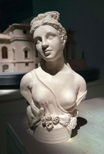 Aphrodite Miniatur Büste Griechische Göttin in Gips Gips