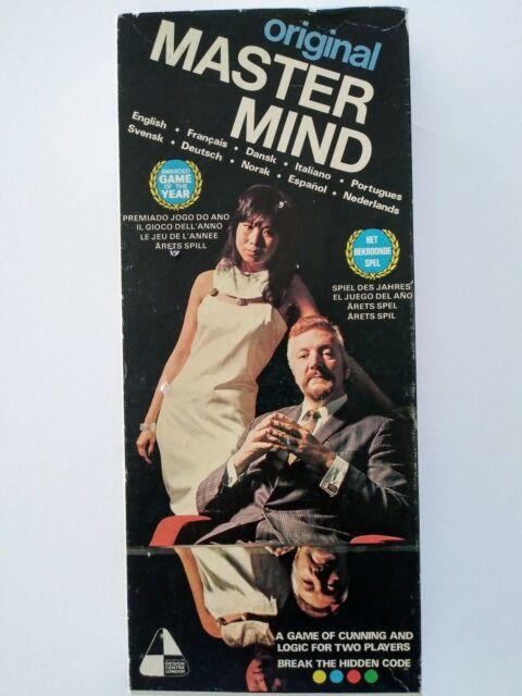 MASTER MIND ORIGINAL INVICTA 1972 VINTAGE BOARD GAME HERMETICALLY DEALED!!!