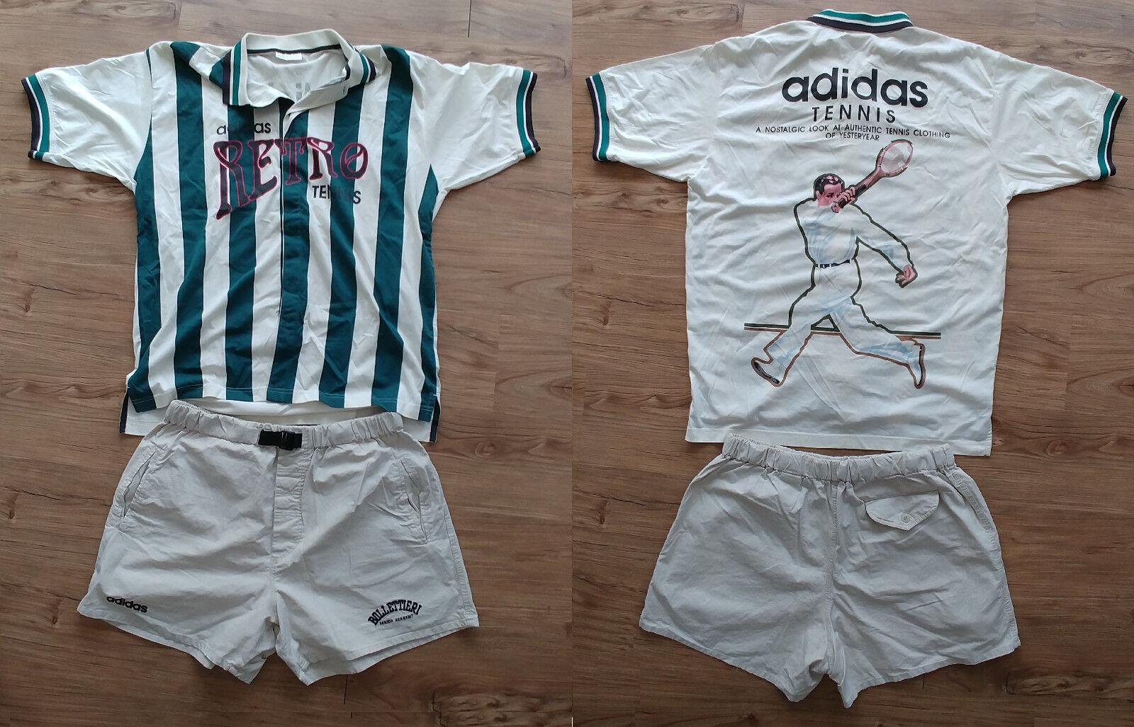 Shorts, und T Shirt SET Vintage Tennis Sport Retro Adidas