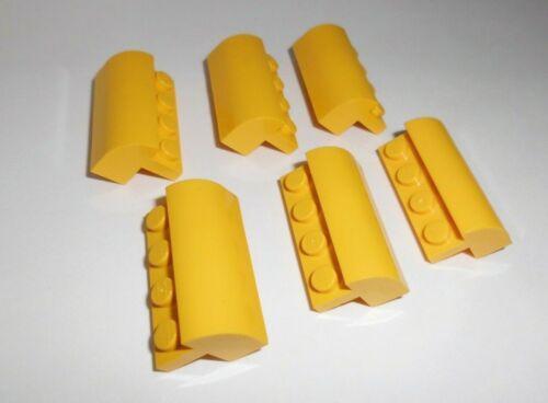 6 Bogensteine 2x4x1 1/3 Lego 6081 in gelb aus 8292 3184 4206 4404