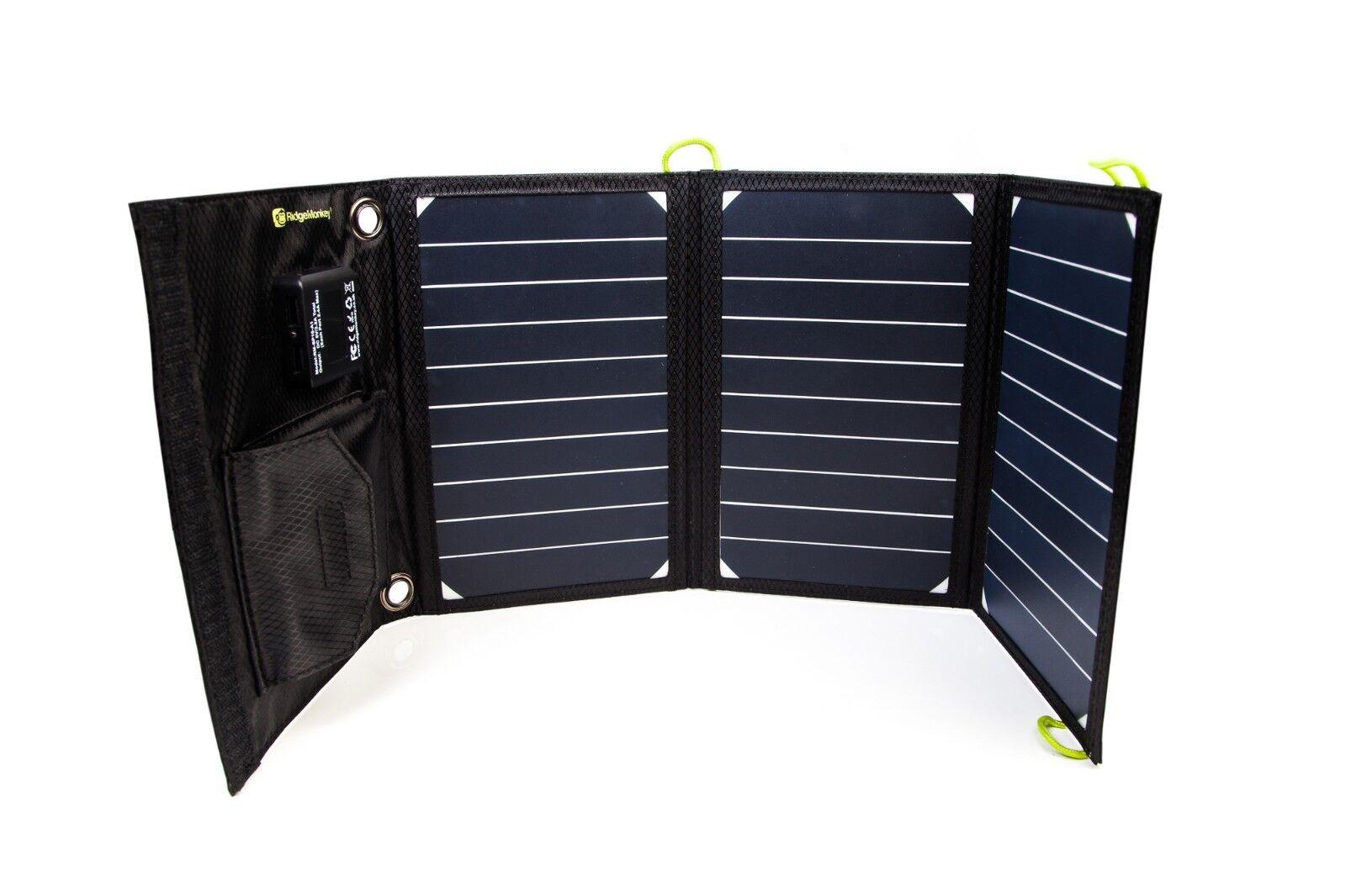 Nuevo ridgemonkey Ridge Mono Vault 16W USB Panel Solar Cochegador-Pesca De Cochepa