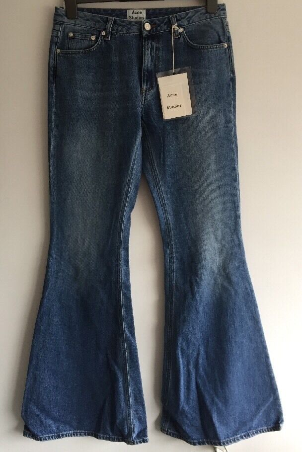 ACNE STUDIOS Flared slim-fit mid-rise jeans Size 38 RRP