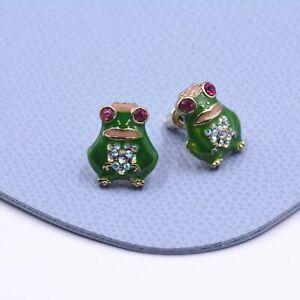 Frog Earrings Hand Painted