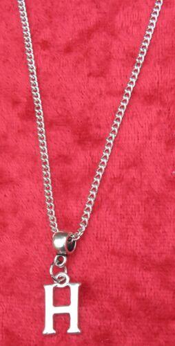 "18/"" o 24 Pulgadas Cadena Collar /& Alfabeto Letra H colgante encanto inicial de nombre"