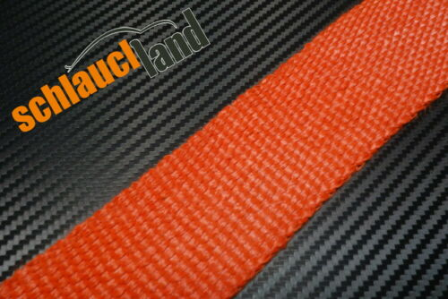 15 m fibre de verre Chaleur Ruban 50 mm Rouge 800 ° C *** Heat Wrap Turbo matières coudes