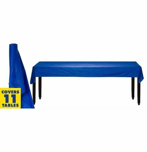 Royal Blue 100ft Plastic Buffet Banquet Roll Wedding Party Table Cover