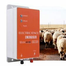 10km Electric Fence Solar Charger Controller Animal Horse Cattle Poultry Farm