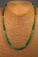 Chrysopras Kette Collier 88,70ct. Classic Edelstein Heilstein Schmuck Halskette