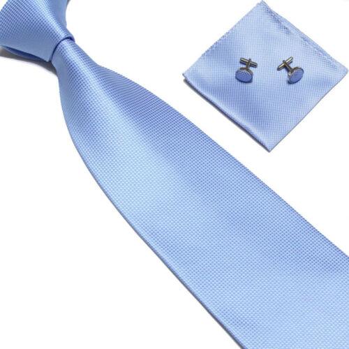 Woven Silk Krawatte Handmade Mens Tie Manschettenknöpfe und Taschentuch Set