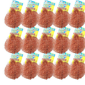15 Pcs Chore Boy 100% Pure Copper Scrubbers, Rust Free for Pots and Pans
