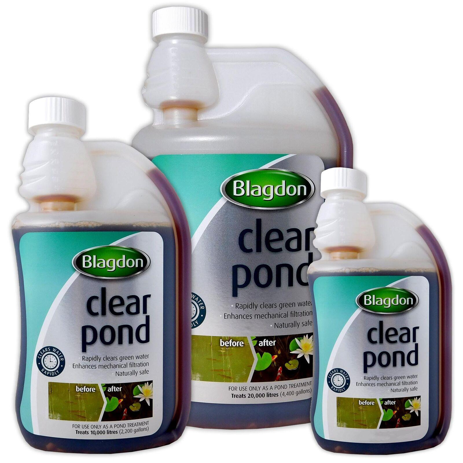 Blagdon Clearpond 250ml 500ml 1000ml Fish Pond Cloudy Water Treatment Interpet