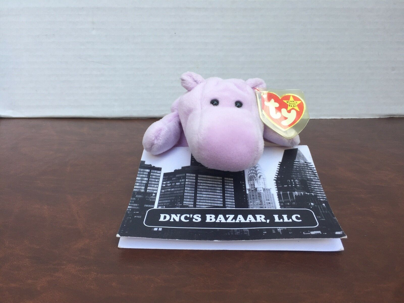 Happy hippo von ty beanie babys 1993 pvc - pellets
