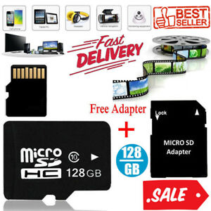 128GB-Speicherkarte-Micro-SD-TF-Card-Class10-Flash-Adapter-Fuer-PC-Phone-MP4