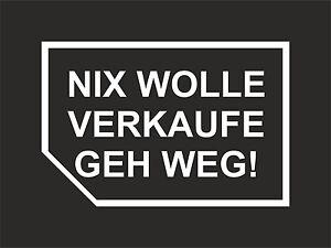 Details Zu Nix Verkaufen Aufkleber Sticker Nix Karte Meins Auto Karten Car Tuning Geh Weg