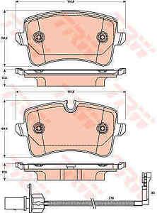 TRW-Front-Rear-Brake-Pads-Set-GDB1902-BRAND-NEW-GENUINE-5-YEAR-WARRANTY