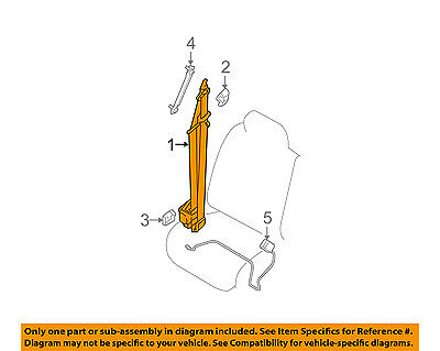 NISSAN OEM 13-18 Frontier Front Seat Belts-Belt /& Retractor Right 868849CA7D