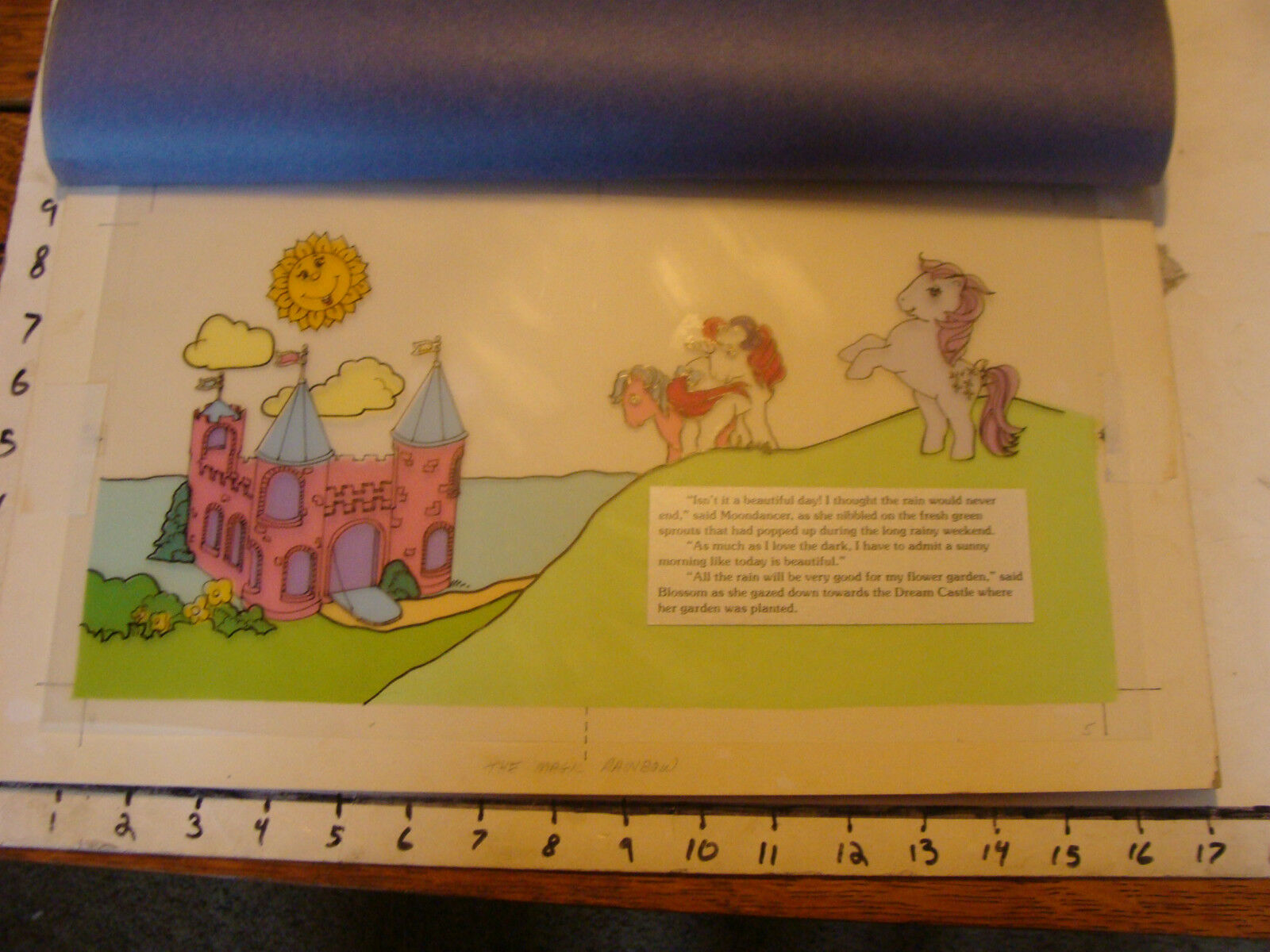 My Little Pony Layout konst  från Magic Rainbow Book