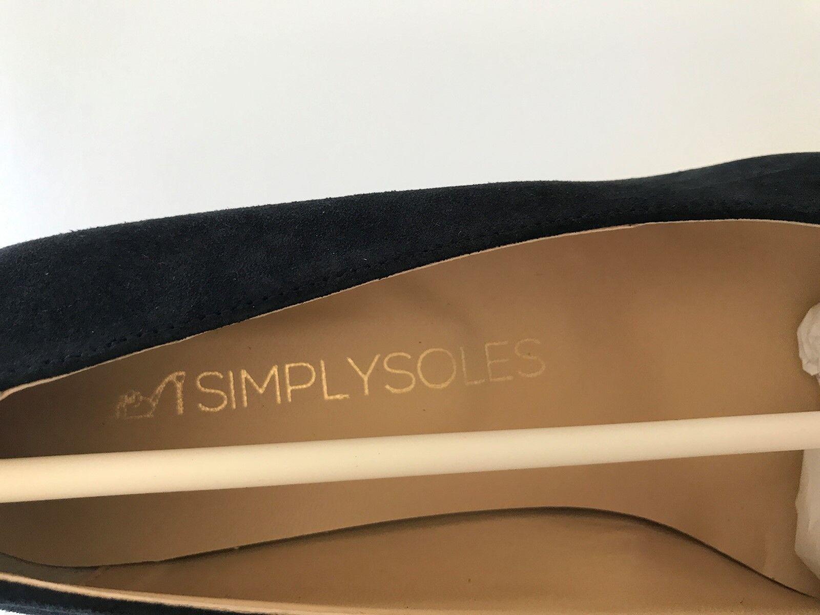 Simply Soles SCRALETC NAVY SUEDE- Größe 9 RET 200.00