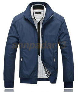 New-Men-039-s-Slim-collar-jackets-fashion-jacket-Tops-Casual-coat-outwear