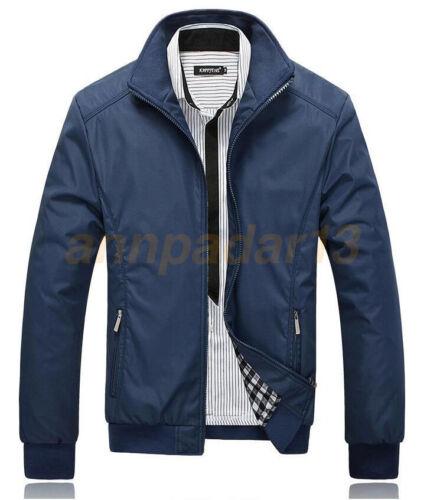 Nouveau Homme slim col vestes Fashion Veste Tops Casual Manteau Outwear