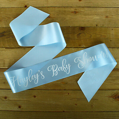 granny to be printed in black Mum To Be Personalised Baby Shower Sash