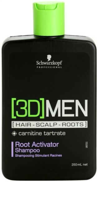 Schwarzkopf Professional 3D Men Root Activator Shampoo 250ml