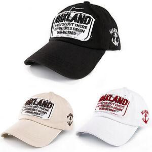 UOMO-DONNA-Oakland-Cappello-Baseball-con-visiera-sport-all-039-aperto-Regolabile