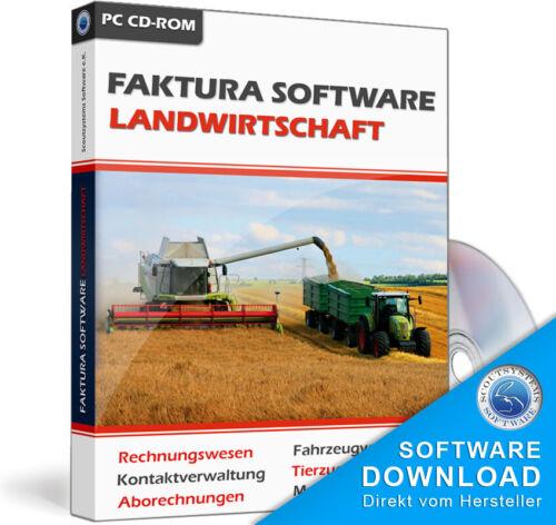 Faktura Landwirtschaft,Rechnungsprogramm,Tierzucht,Landmaschinen Verwaltung,EDV