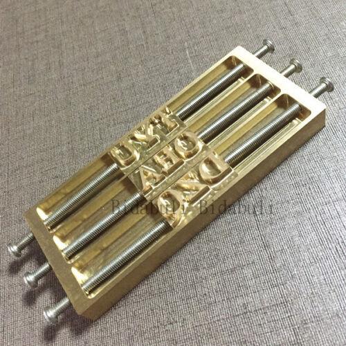 Custom Leather alphabet numéro TIMBRE Gaufrage en Cuir Bois Artisanat Fer à marquer