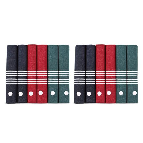 Samuel Windsor Mens Cotton Handkerchiefs Pack of 6 or 12 40cm Square Hankies NEW