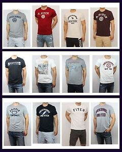 New-Abercrombie-amp-Fitch-by-Hollister-Mens-Logo-T-shirt-Muscle-Fit-Graphic-Tee