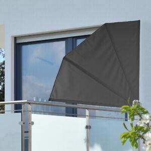Sichtschutz Fächer 120 x 120 cm Polyester 160 g Balkon Windschutz Balkonfächer